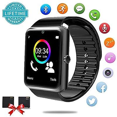 Bluetooth Smart Watch - Smartwatch Android Phones SIM Card Slot Camera