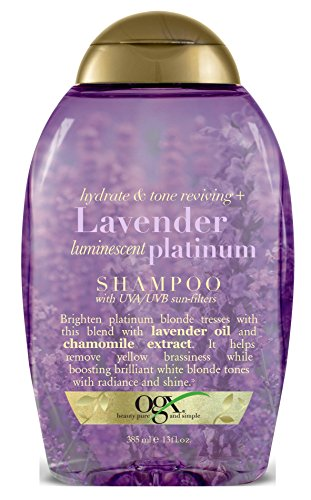 Ogx Shampoo Lavender Platinum Tone Reviving 13 Ounce (385ml) (3 Pack)