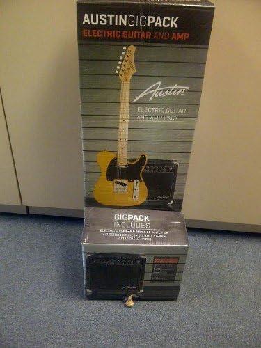 Austin atc200bcp estilo Telecaster guitarra eléctrica paquete ...