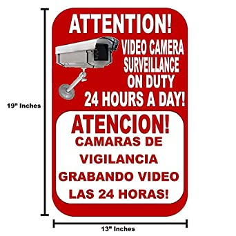 Best Business Security Camera & Video Surveillance Sign for Buildings, Parking Lots and underground Parking