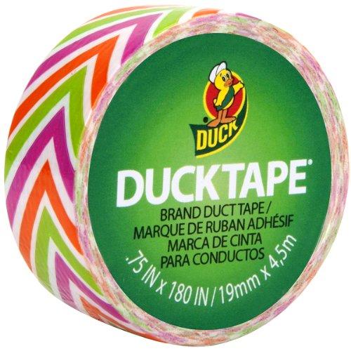 "Mini Duck Tape .75"" Wide 15 feet Roll-Zig Zag"