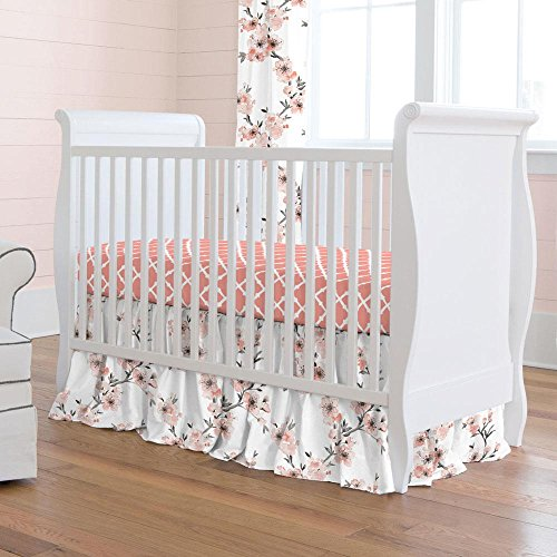 Carousel Designs Light Coral Cherry Blossom 2-Piece Crib Bedding Set (Light Carousel)