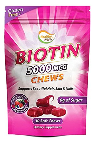 Healthy Natural Systems - Biotin Chews Berry 5000 mcg. - 30 Chews by Healthy Delights