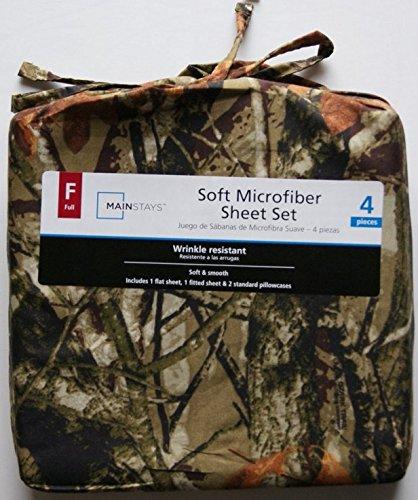 Mainstays Camouflage Soft Microfiber Full Sheet Set 84417802