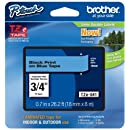 Brother Tape, Black on Blue, 18mm (TZe541) - Retail Packaging