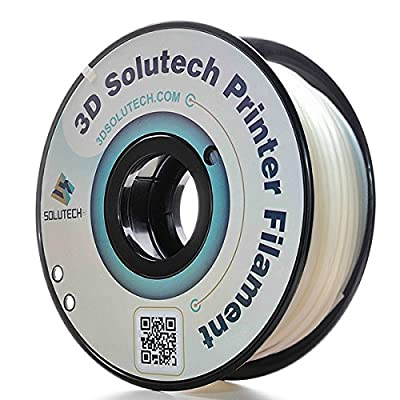 3D Solutech Natural Clear 2.85mm 3D Printer PLA Filament, Dimensional Accuracy +/- 0.03 mm, 2.2 LBS (1.0KG) - 100% USA