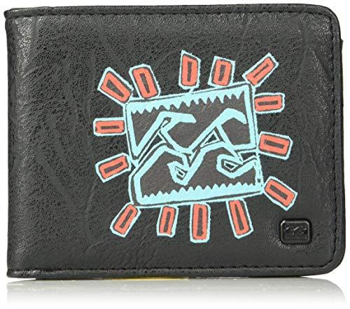 Billabong Men's Tides Bi-Fold Wallet Black Multi One Size