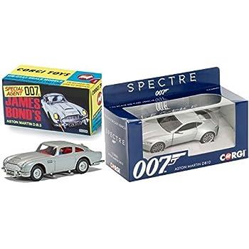 Spectre Aston Martin DB10 1:36 + Goldfinger James Bond Car Set Aston Martin DB5 Retro Corgi