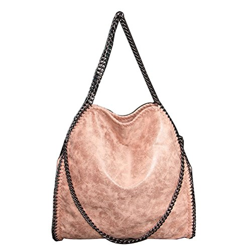 Womens Wholesale Handbags (D'autres hauteurs Women Chain Paillette Large Casual Tote Shoulder Bag (01Beige))
