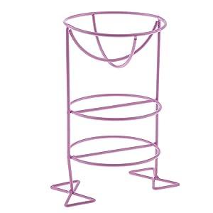 menolana Makeup Powder Puff Display Stand Holder Sponge Puff Organizer Drying Shelf - Purple