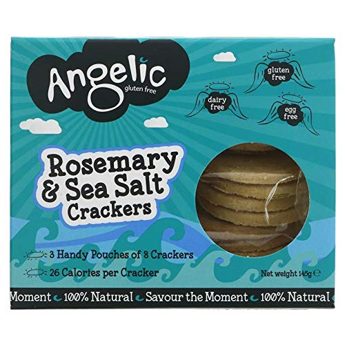 Angelic Gluten Free Rosemary Savoury Biscuits 145g (Pack of 8)