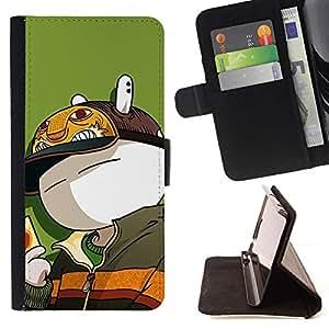 Momo Phone Case / Flip Funda de Cuero Case Cover - Conejito lindo Rich - HTC One Mini 2 M8 MINI