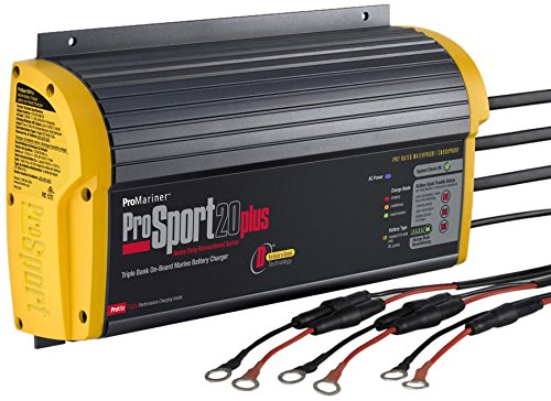 (ProMariner 43021 ProSport 20+ Generation 3 20 Amp, 12/24/36 Volt, 3 Bank Battery Charger)