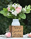 You Are My Greatest Adventure Flower Vase - Planter Vase - Wood Flower Box - Wedding Centerpiece - Wooden Planter Box - Rustic Home Decor