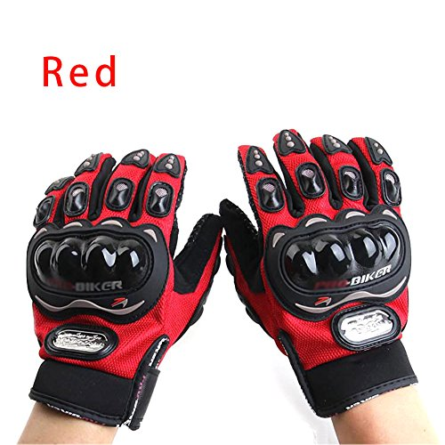 iNewcow Sports Bicycle Motorcycle Racing Cross-Country Protective Gloves 1 Pair(Red Size M)