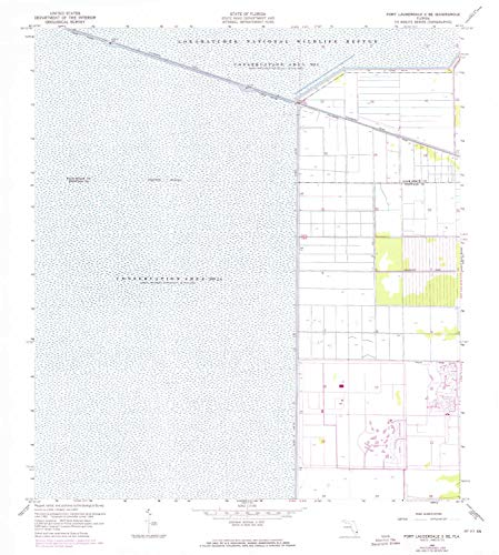 YellowMaps Fort Lauderdale 2 SE FL topo map, 1:24000 Scale, 7.5 X 7.5 Minute, Historical, 1963, Updated 1970, 26.8 x 24 in - Paper