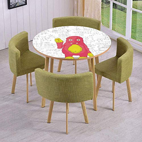 VAMIX Round Table/Wall/Floor Decal Strikers/Removable/Funny Smart Monster Doing Math on Wall Science Nerds Comic Illustration Decorative/for Living Room/Kitchens/Office Decoration