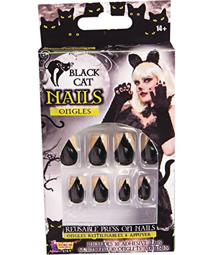 Forum Novelties Black Cat Nails, One Size -