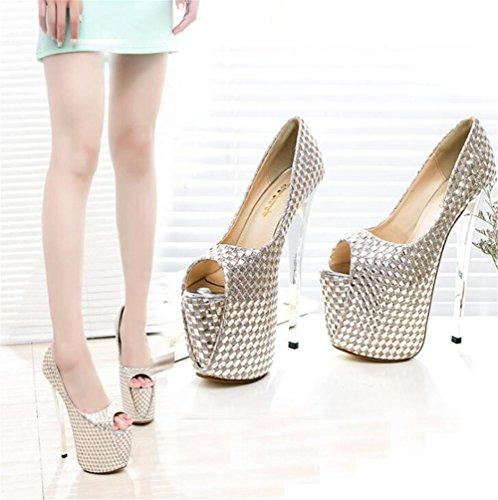 club femmes et Chaussures EU39 pour à Taille aiguille forme XIE sandales Talon Des Pompes Fête Plate BEIGE 41 soirée 35 WEw8YxWgq4
