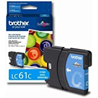 Brother LC61C Ink Cartridge, 325 Page-Yield, Cyan