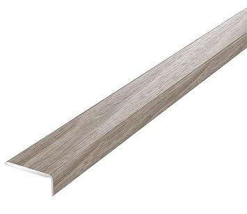 Topes TMW para puerta de madera laminada y suelos de madera de nogal anodizado, autoadhesivo, 1 metro: Amazon.es: Bricolaje y herramientas