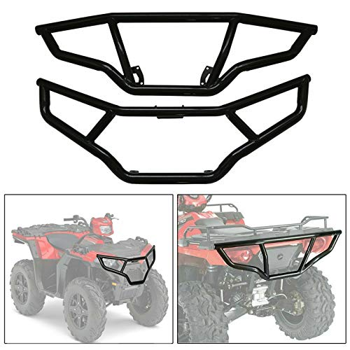 WeifangInspire Front /& Rear Brush Guard Bumper Set for 2014-19 Polaris Sportsman 450 570 /& ETX Bumper Protector Brush Grille Guard