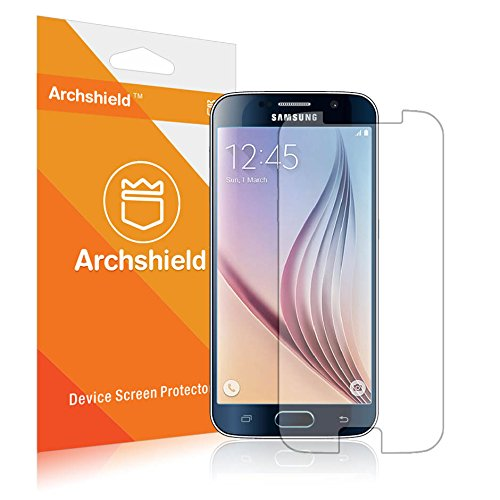 S6 Screen Protector, Archshield - Samsung Galaxy S6 Premium High Definition (HD) Clear Screen Protector 3-Pack - Retail Packaging (Lifetime Warranty)
