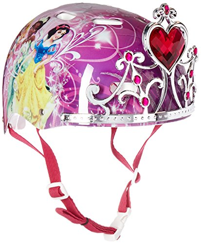 Disney Campana Princesa Niño Cascos, 3D Tiara de Joyas Brillantes, Rosado, Fits Head Sizes: 51-54 cm