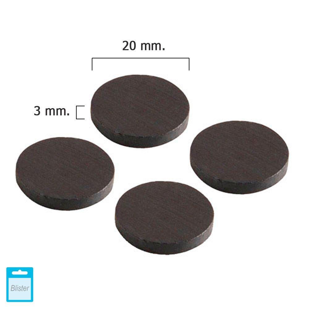 Wolfpack 5411105 Lot de 4 aimants en forme de disque en ferrite 25 x 3 mm A Forged Tool