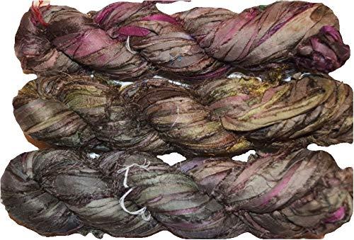 Schmuckherstellung Trim Hellrosa 100g recyceltes Sari-Seidenband-Garn