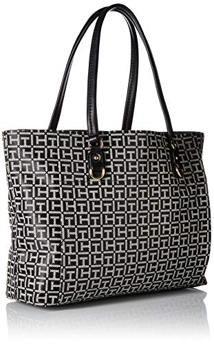 Tommy Hilfiger Kelby Womens Black Tote White Ff0FwqA