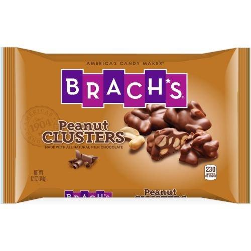 Milk Cluster Chocolate Peanut - Brachs Peanut Clusters, 12 Ounce -- 12 per case.