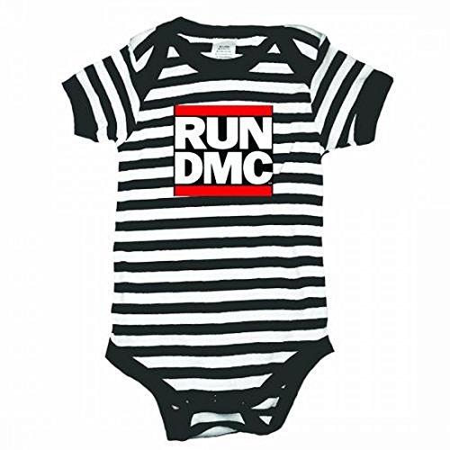 Run DMC Logo Striped Unisex Baby Infant Romper (12-18 - Dmc Run Band
