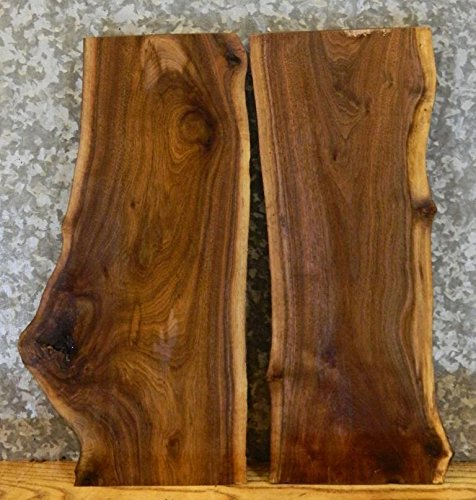 2- Natural Edge Black Walnut Taxidermy Base/Wood Shelf Slabs T: 1 1/8'', W: 12 1/4'', L: 24'' - 7828,7851 by The Lumber Shack