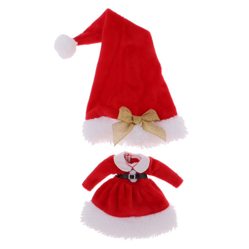Amazon.com: CUTICATE Doll Christmas Outfit Plush Dress Hat ...