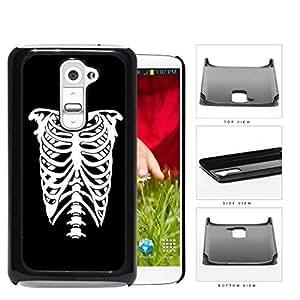 Rib Cage Skeleton Black And White Hard Plastic Snap On Cell Phone Case LG G2