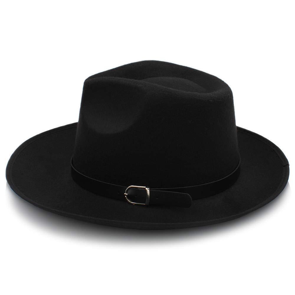 AILIN1 Für Erwachsene Mode Unisex Womem Männer Classic Wide Brim Sonnenhut Feodora Hut Panama Cap Warmer Hut