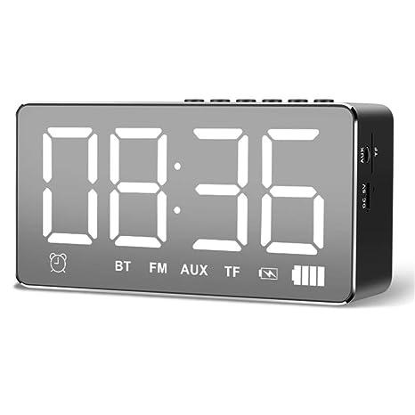 V.JUST Inteligente Bluetooth Reloj Despertador Altavoz ...