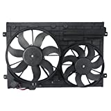 OrionMotorTech VW3117106 OEM Engine Radiator Cooling Fan Assembly Low Noise for Audi Volkswagen