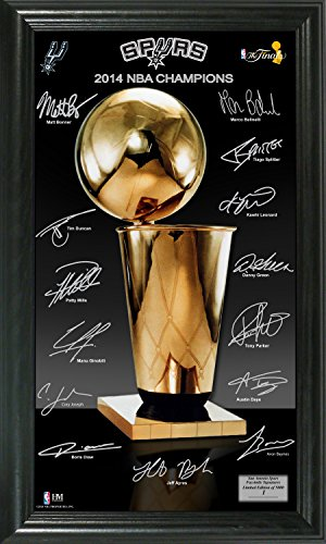 NBA San Antonio Spurs 2014 Finals Champions ''Trophy'' Signature Photo, Black, 22'' x 15'' x 4'' by The Highland Mint