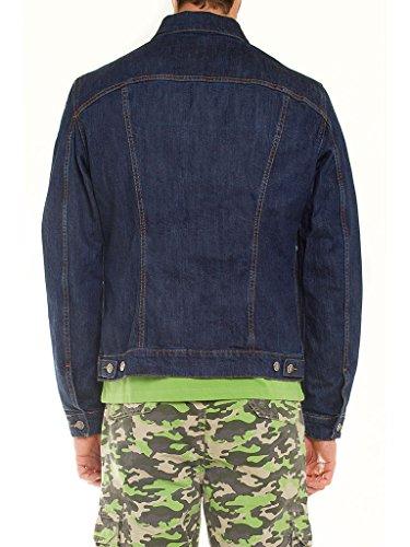100 tejido ajuste Carrera para Lavado extensible Oscuro Azul jeans larga western 450 regular Abrigo hombre Jeans estilo manga q8w46