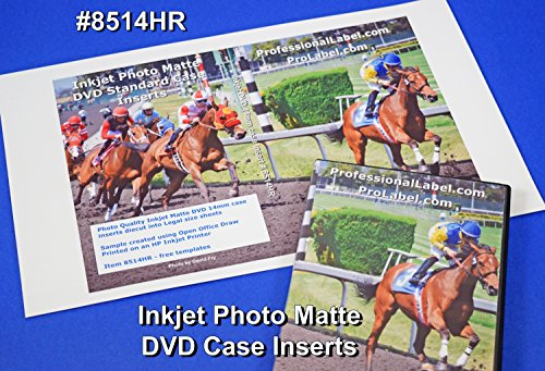 Photo Matte DVD Case Inserts Inkjet Photo Quality 50 Sheets (Jet Insert Part)