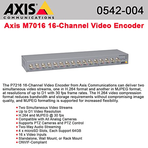 AXIS P7216 Video encoder 16 channel, dual streaming / 0542004 /