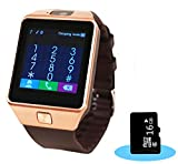 Smart Watches Best Deals - Aipker 1.56-Inch Touch Screen Smart Watch Phone with Camera and 16GB SD Card for Andriod SmartPhones - Golden