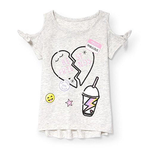 The Children's Place Big Girls' Short Sleeve Fashion Top, H/T Lunar 6413, L (10/12)