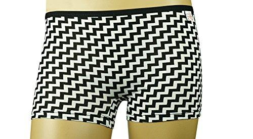 Mysocks® mujer Boxer bragas blanco negro zigzag