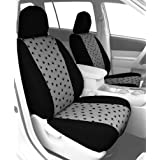 CalTrend Front Row Bucket Custom Fit Seat Cover for Select Chevrolet Silverado/GMC Sierra Models - Pet Print (Light Grey Insert with Black Trim)