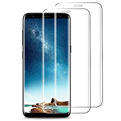 AOKER Galaxy S8 Plus Screen Protector, [New] [3D Curved Full Cover] 9H Hardness Premium Tempered Glass Full Coverage for Samsung Galaxy S8 Plus With Lifetime Replacement Warranty (2Pack Clear)