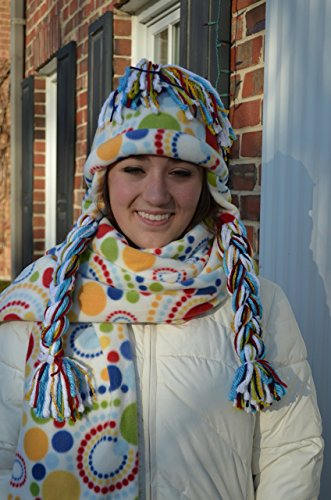 - fleece winter hat and scarf