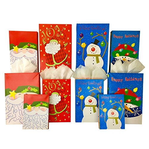 Wholesale Christmas Gift Boxes (Set of 10 Christmas Gift Boxes + Tissue Paper, 2 Robe Box, 3 Shirt Box, 5 Lingerie Box (10 Gift Boxes, Santa Claus and Friends))